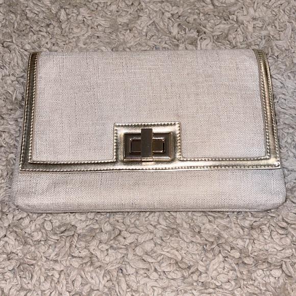 WHBM tan purse/clutch